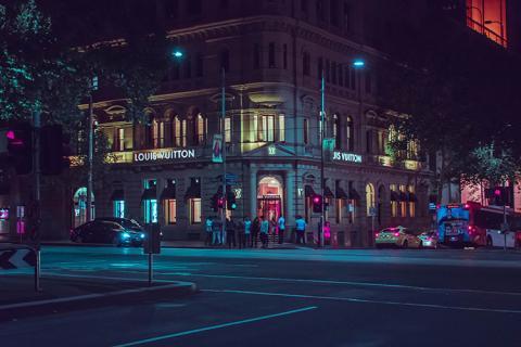 Un establecimiento de Louis Vuitton