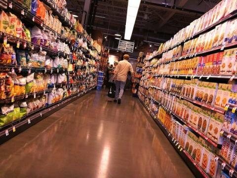 Estanterías de un supermercado