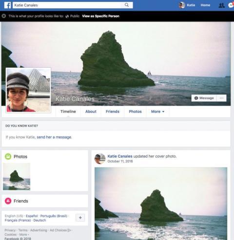 Facebook Perfil Info Publica