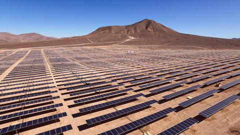 Una granja solar