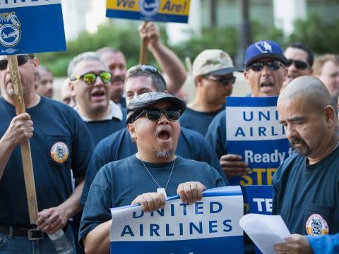 manifestación compañía aérea