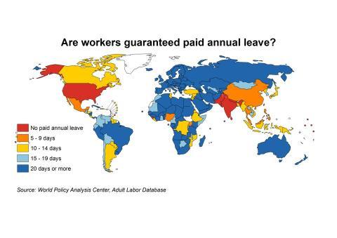 mapa del mundo por derecho de vacaciones