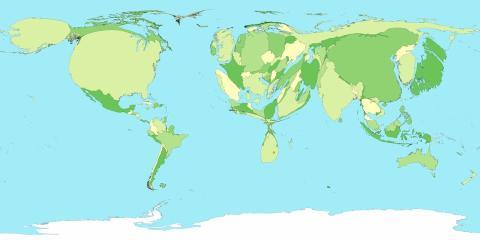mapa del mundo según emisiones co2