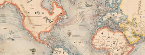 Mapa Vintage Cables Submarinos