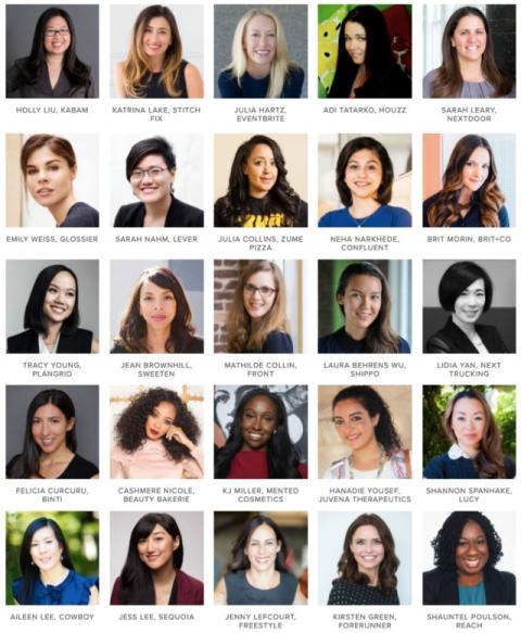 Varias de las mujeres fundadoras que participan en el proyecto