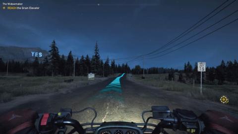 Paisaje de Far Cry 5 de noche.