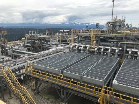 La planta de acondicionamiento de gas de la empresa ExxonMobil, en Papúa Nueva Guinea.