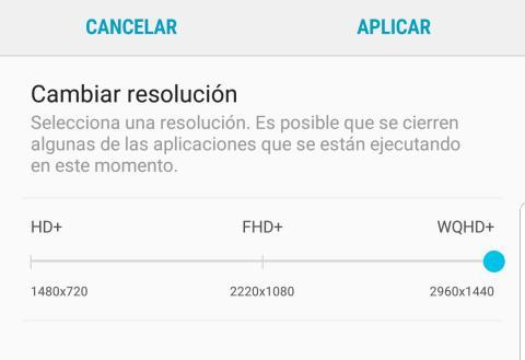 Resolucion Pantalla Galaxy S9