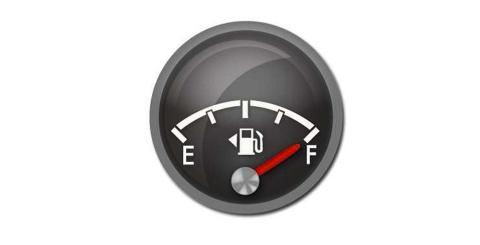 Salpicadero de la gasolina