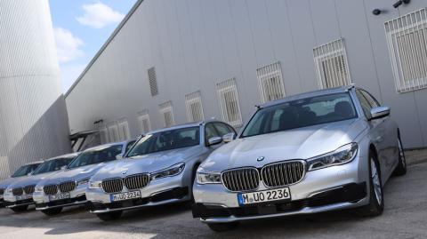 Los Serie 7 que BMW está utilizando para sus pruebas