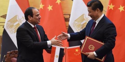 Al Sisi y Xi Jinping