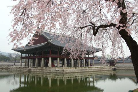Templo asiático en Seúl