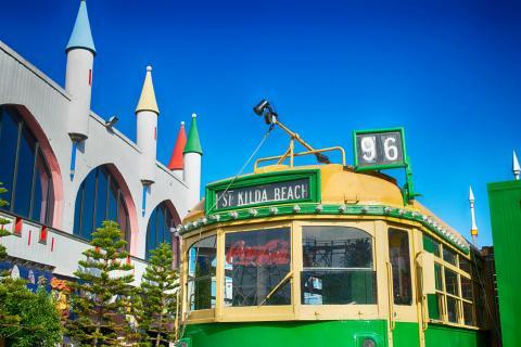 Tranvía en Luna Park, Melbourne, Australia