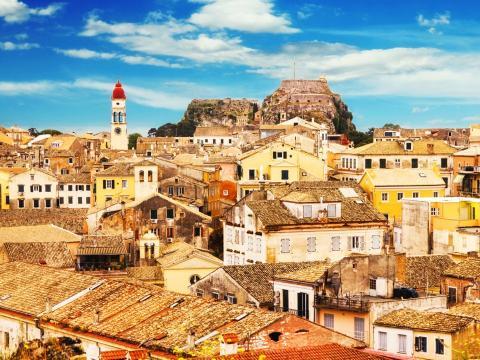 Vistas en Corfú, en Grecia