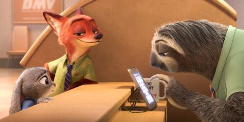 Fotograma de Zootropia, una película Disney.