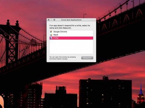 4. Control + Alt + Delete doesn't work on Mac — instead, hit Command + Option + Escape to shut tasks down the hard way.