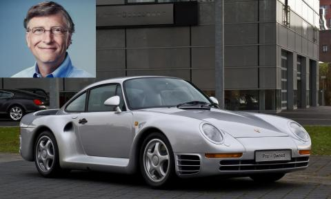 8. Speaking of cars, Gates has quite the Porsche collection. The headliner is his Porsche 959 sports car, which he bought 13 years before the car was approved by the US Environmental Protection Agency or the US Department of