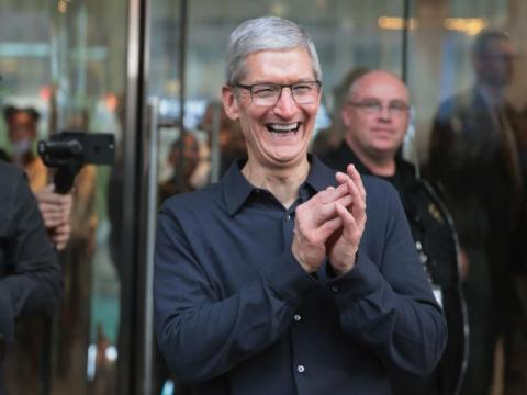 Tim Cook made over $15 million in 2018 — that's 283 times more than the median Apple employee earned