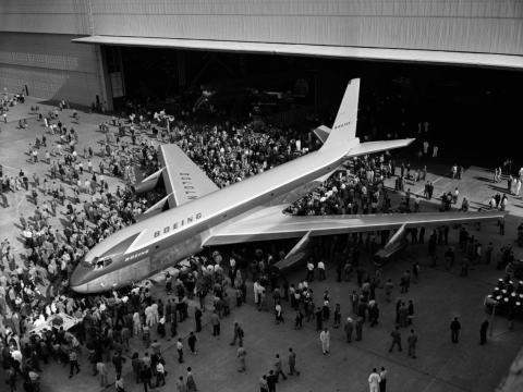 El avión Boeing 707