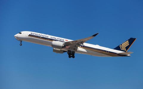 Un avión de Singapur Airlines
