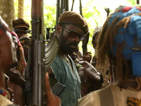 Fotograma de 'Beasts of No Nation', una película original de Netflix.