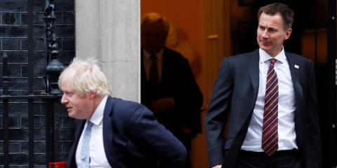 Boris Johnson y Jeremy Hunt