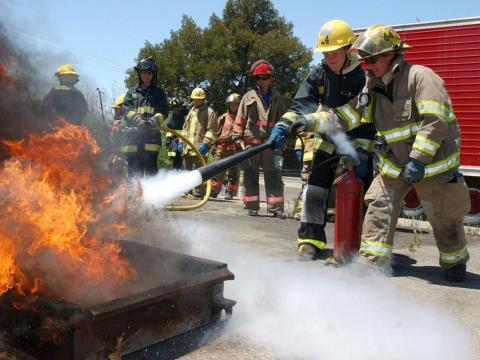 Municipal firefighters