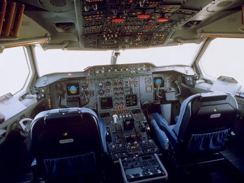 Una cabina Airbus