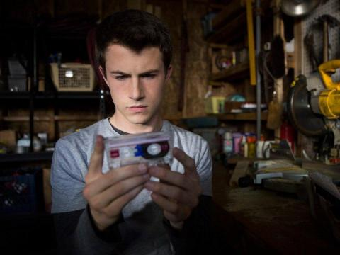 "Hannah Baker's friend Clay Jensen listens to her tapes on ""13 Reasons Why."""