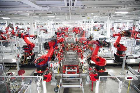Una fábrica de Tesla