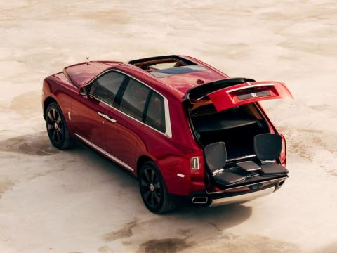 The Cullinan is equipped with a two-piece folding tailgate. You can even go with tailgate seats.