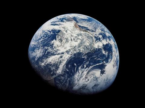 Earth from space as seen by Apollo 8 astronauts.
