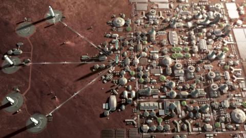 Musk's vision of a city on Mars.