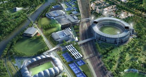 La ciudad contará con un gigantesco estadio deportivo y un parque agroindustrial.