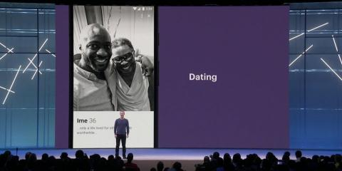 Presentación de la aplicación de citas asociada a Facebook.