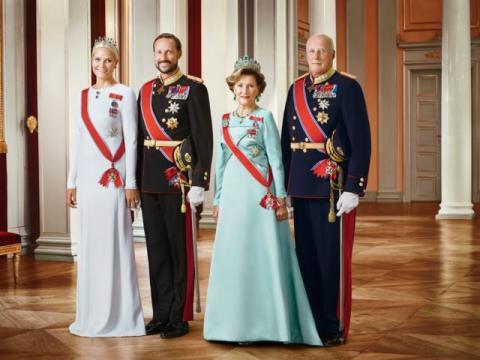 La familia real noruega