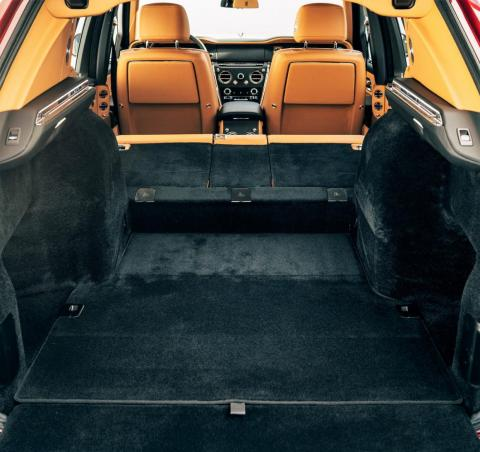 Fold the seats down and electronically raise the cargo floor to increase capacity to 68 cubic feet.