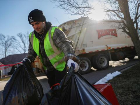 Refuse and recyclable-material collectors