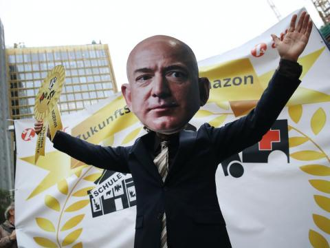 Amazon workers across Europe will protest today.