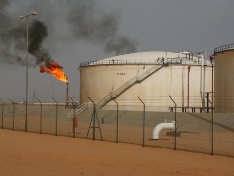 Instalación de petróleo en Libia