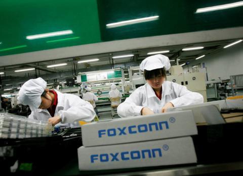 Interior fábrica de Foxconn