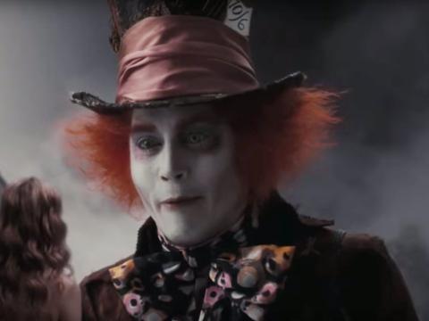 """Johnny Depp en """"Alicia en el País de las Maravillas"""""""