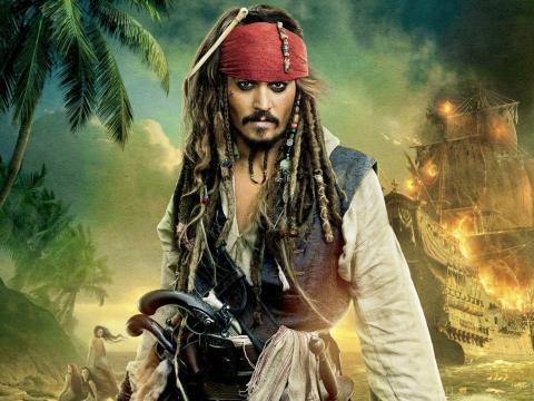 """Johnny Depp en """"Piratas del Caribe"""""""