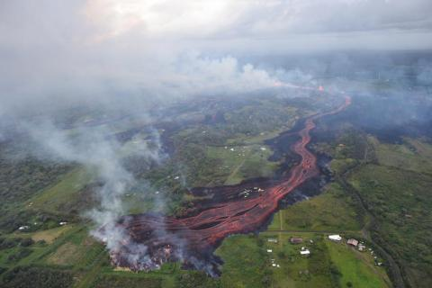 Lava flows can quickly overtake and scorch anything in their path. They have covered vast swaths of land on the Big Island.
