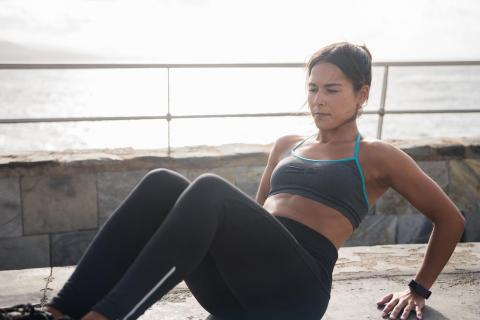 "Let's start with your stomach. ""If you want your abs to appear flatter and to be stronger you have to strengthen the deep core stabilizers,"" Kaiser told Business Insider."