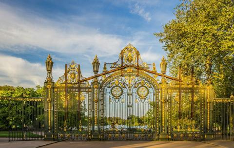Paisaje de un parque de Lyon.