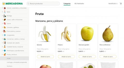 Mercadona Web categorias