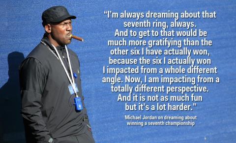 Jordan ha dicho que ganar un campeonato como propietario sería más gratificante que cualquiera de los seis anillos que ganó como jugador [RE]