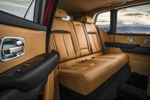 Open up the rear coach door and you'll find traditional Rolls-Royce luxury.