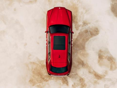 From overhead, the Cullinan looks like every other SUV until ...